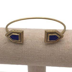 Madewell Blue Angle Cuff Bracelet Gold-Tone